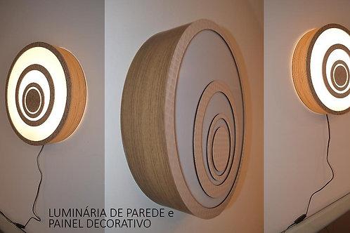 Luminária de parede e painel decorativo  48cm x 10cm