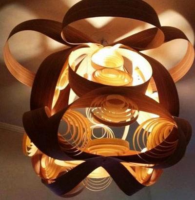 Lustres-Luminária-Pendente Andrômeda 80cm x 80cm - madeira