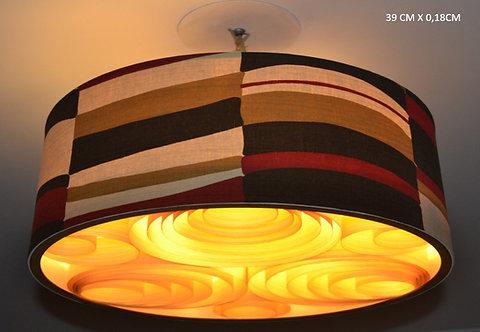 Lustres-Luminárias-Pendentes Sophia 45cm x 20cm Couro-tecido-vinílico
