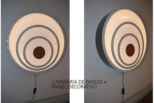 Luminária-PROMOÇÃO-ABAJUR de parede e painel decorativo  58cm x 10cm