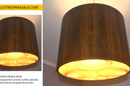 EDVALDO - 02 pendentes de 39cm x 20cm madeira louro frejó