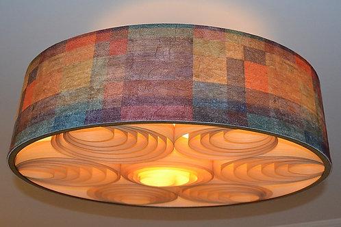 Lustres-Luminárias-Pendentes Sophia 60cm x 20cm Couro-tecido-vinílico