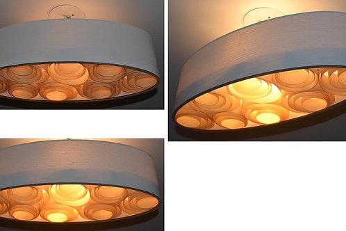 60CM-Lustre-Promoção-Luminária-Pendente-Madeira - Oval -60cm x 26cm x 18cm