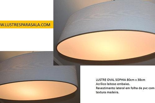 OVAL 80CM-OFERTA-Lustre-Luminária-Pendente-Sala-Estar-Jantar