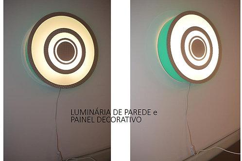 Abajur-Luminária de parede e painel decorativo  48cm x 10cm
