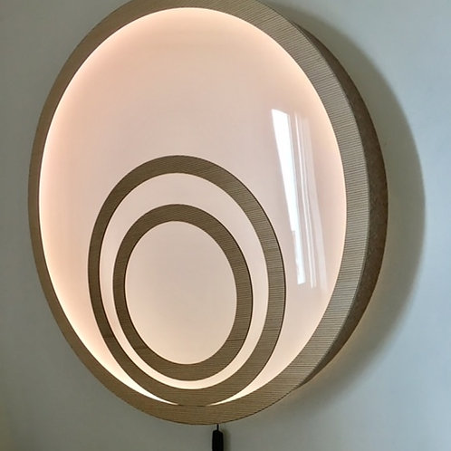 Painel Decorativo-Luminária parede oval 78cm x 10cm