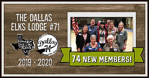 Dallas 71 NEW MEMBERS 2019-2020