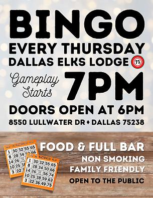 Dallas Bingo Game