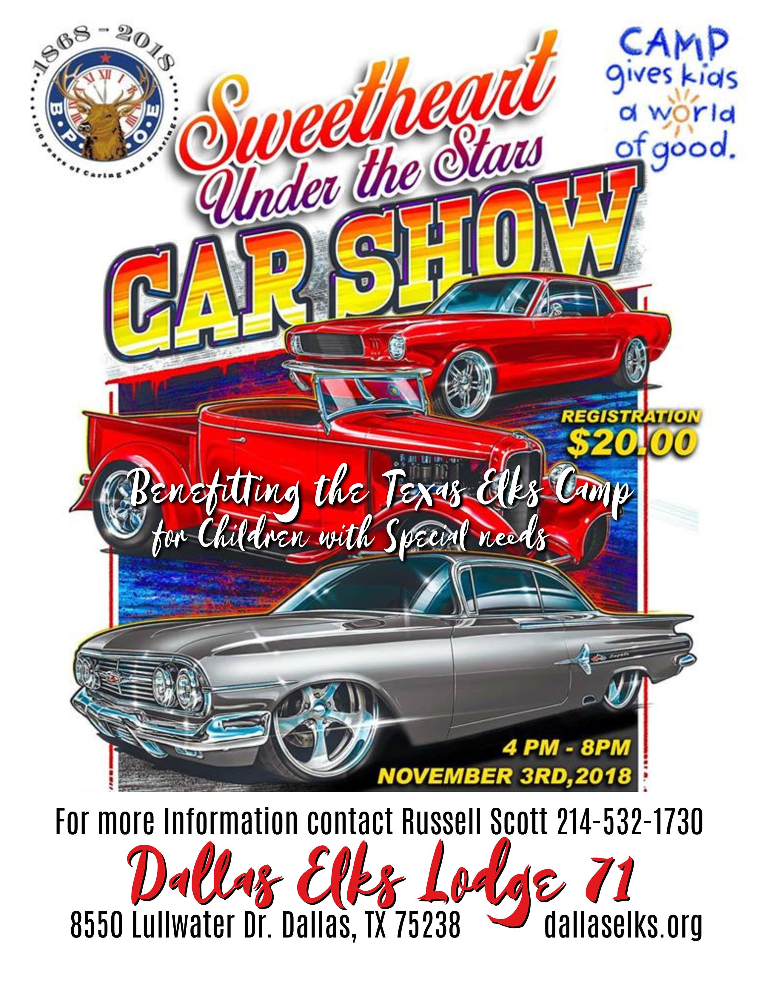 Dallas Elks LakeHighlands Dallas Elks Lodge - Dallas car show 2018