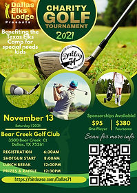 Elks Charity Golf Tourney 2021