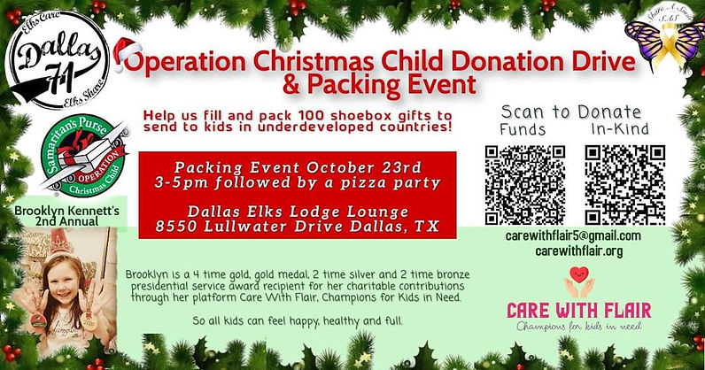 Operation Christmas Child Charity Event