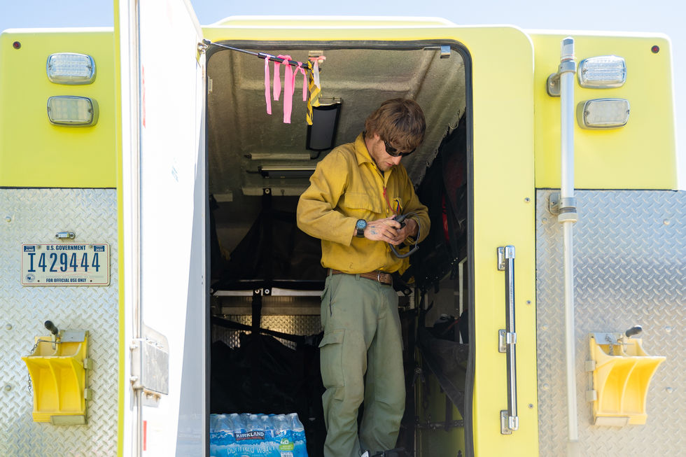 Aidan Schlupe, a member of the Helitack crew, disassembles his gear after a day of training on June 16, 2021. Vale's BLM consists of three teams: the Helitack crew for air support, the engine crews for ground support, and the heavy equipment crew to operate the larger machinery such as bulldozers. During fires, the dispatch center can also call on the national crews based in Vale: the Hotshots and the Snake River Valley (SRV) crew, a group initially for migrant workers that was started in Vale.