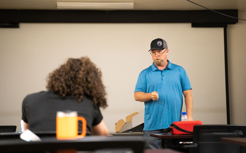Fireline-certified Advanced EMT Anthony Hackman has been working in the field for decades as a medic in the field. During this CPR and First Aid class on June 29, 2021. Hackman stressed the importance of needing to not only be prepared for every imaginable scenario, but knowing how to handle the ones they can't imagine.