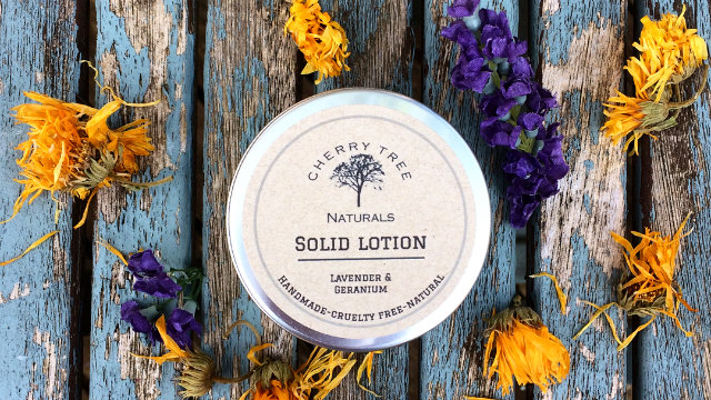 Lavender and Geranium Solid Lotion Bar
