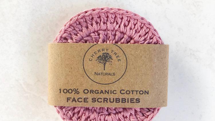 Organic Cotton Pink Face Scrubbie