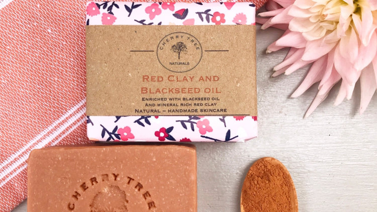 Red Clay and Black Seed Oil Soap