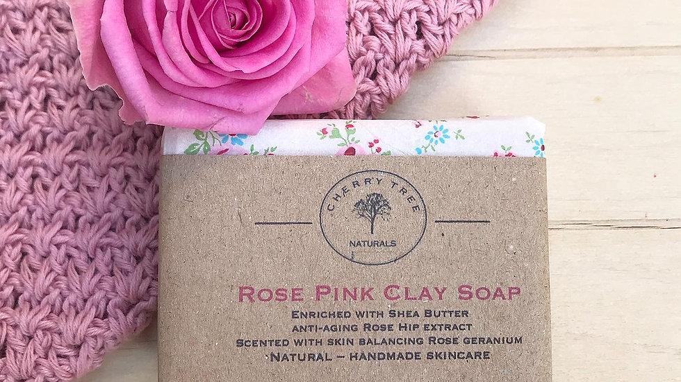 Rose Pink Clay Soap