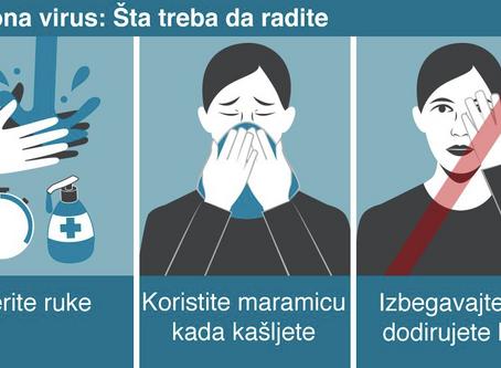 Koronavirus : Kako da se zaštitite