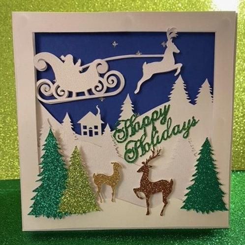 Happy Holidays Card -3D