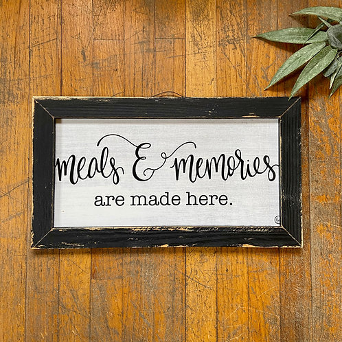 Meals & Memories Sign