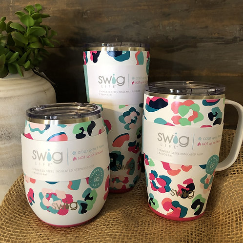Bright Party Animal SWIG insulated Tumblers
