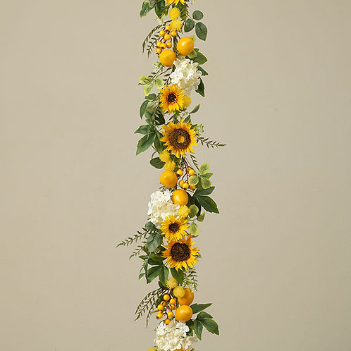 Sunflower & Lemon Garland
