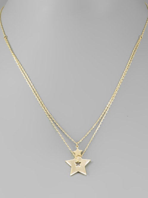 Two-Star Necklace