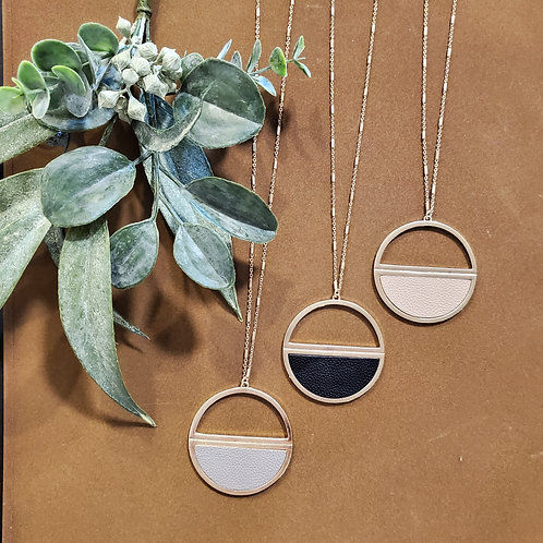 Half-Circle Leather Necklaces
