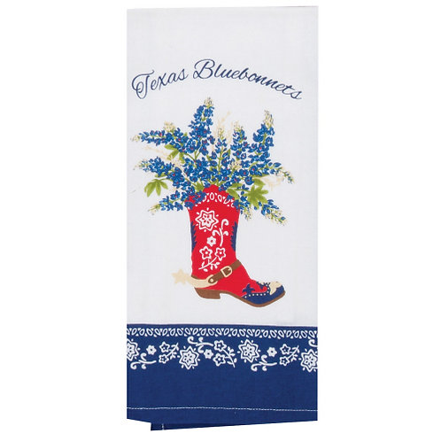 Texas Red Boot Towel