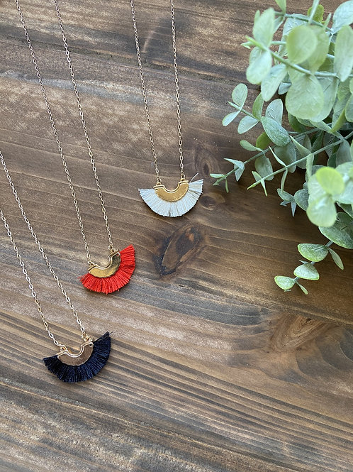 Color-flare Tassel Necklace