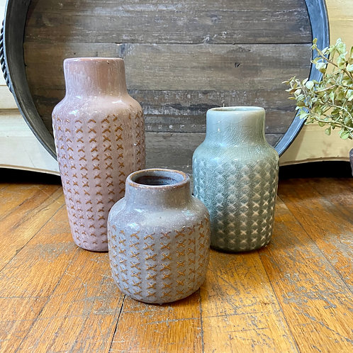 Patterned Vase Set