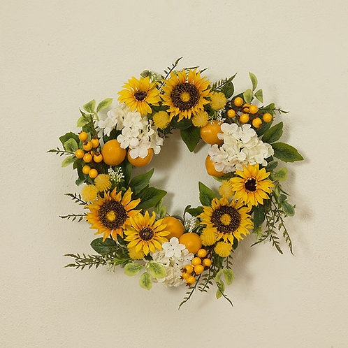 Sunflower & Lemon Wreath