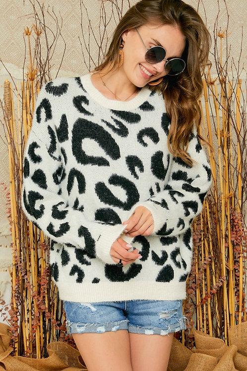 Ivory Animal Sweater