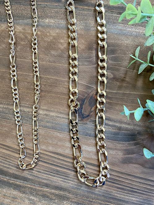 Gold Link Pattern Necklace