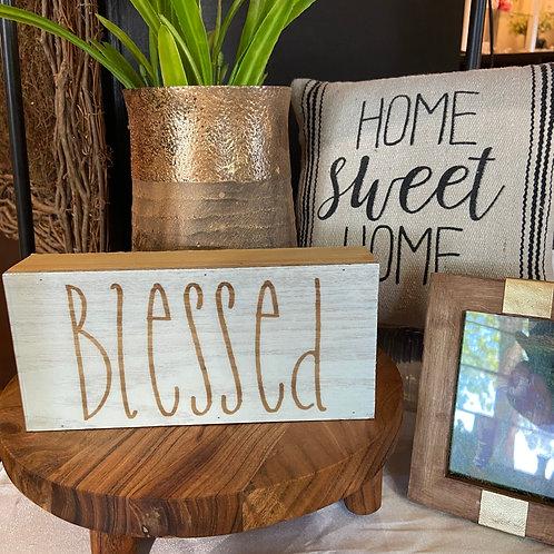 White Wood Box Sign