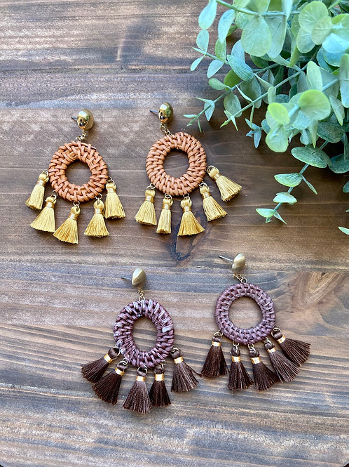 Woven & Tassel Earrings