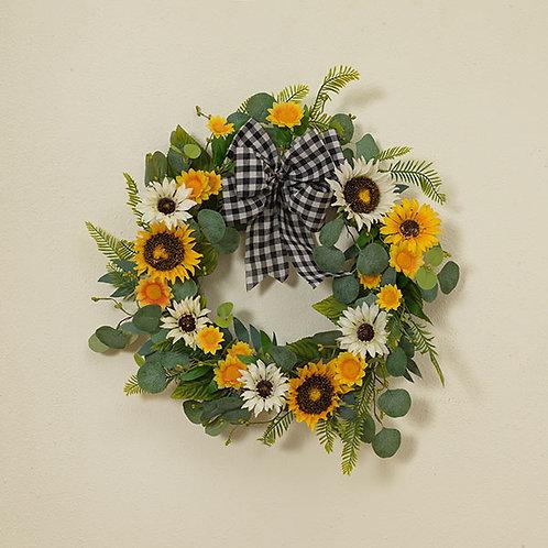 Eucalyptus Sunflower Wreath