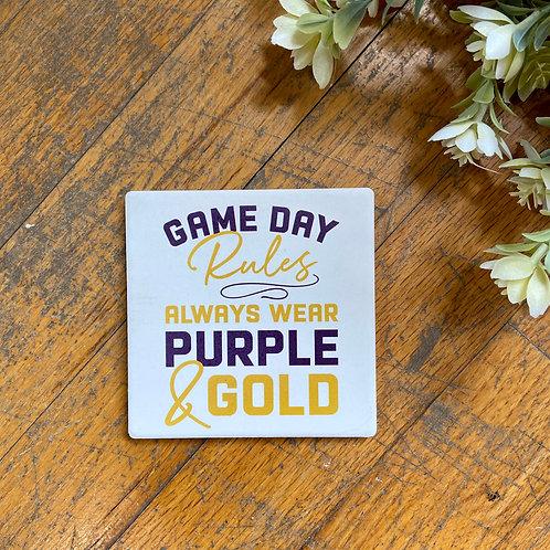 LH Game Day Coaster
