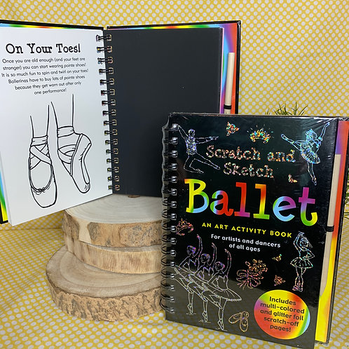 Scratch and Sketch Ballet Art Book
