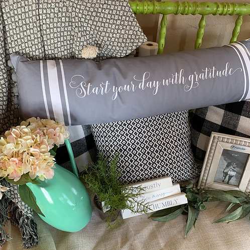 Gratitude Lumbar Pillow