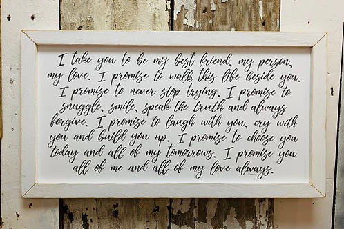 My Vow Sign