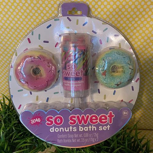So Sweet Donut Bath Set