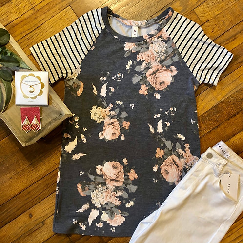 Navy floral for fall WIN