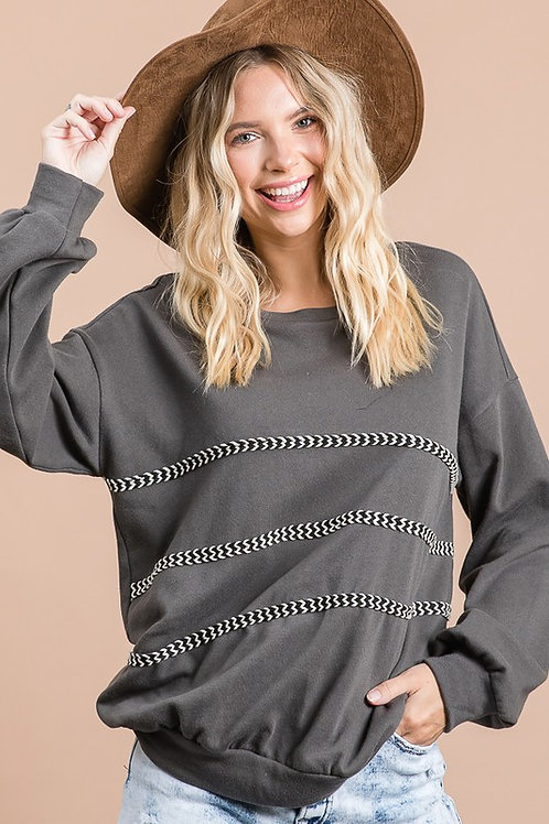 Cute & Casual Charcoal Top