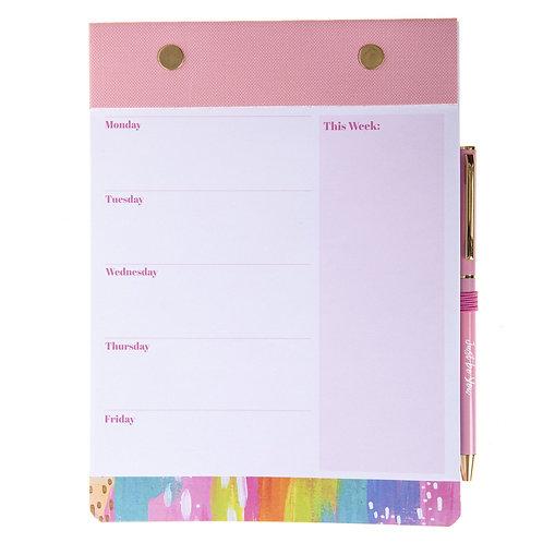 Brush Strokes Notepad & Pen