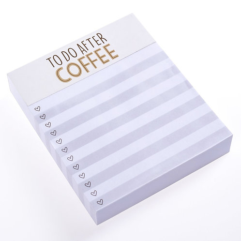 Coffee To-Do Notepad