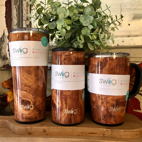 Black Walnut SWIG Insulated Tumblers