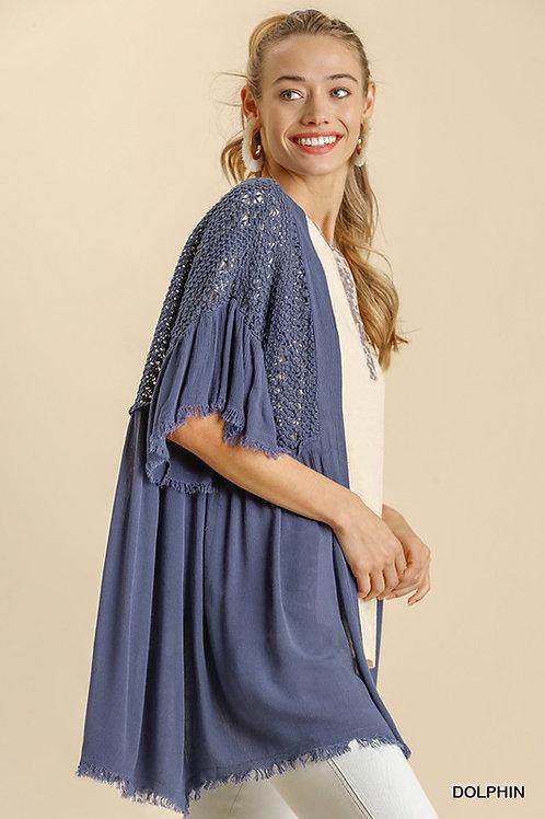 Crochet Blue Kimono