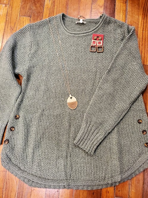 Fun Sweater with Buttons