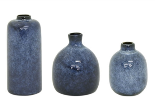 Mini Vases in Blue